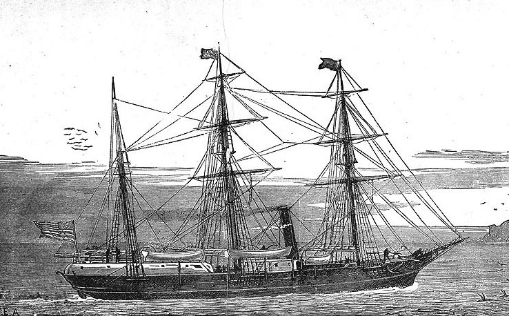 USS Jeanette in 1879 leaving from San FranciscoNaval Historical Center