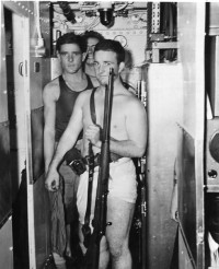 Marines in tight quarters enroute to Makin IslandU.S. Naval Institute Archives