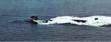 USS Thresher underway, 1961