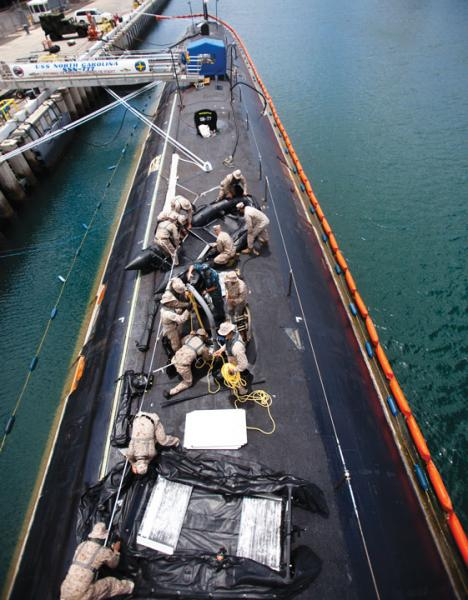 Marines operate from the USS Hawaii U.S. Marine Corps photo