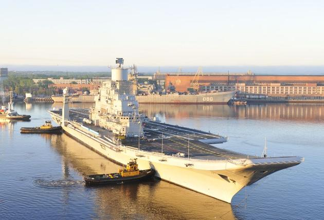 INS Vikramaditya in June. Sevmash Photo
