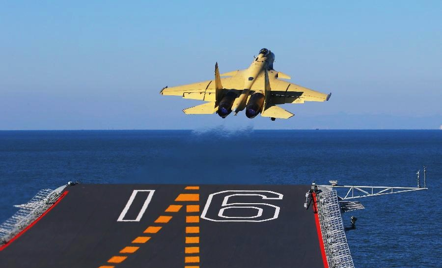 China Carrier Starts Second Round of Jet Tests