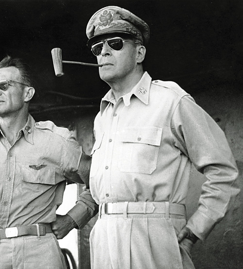 Gen. Douglas MacArthur was fired by then president Harry Truman for insubordination during the Korean War. US Army photo.