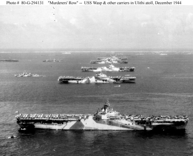 """Murders' Row"" – USS Wasp, USS Yorktown, USS Hornet, USS Hancock and USS Ticonderoga in 1944"