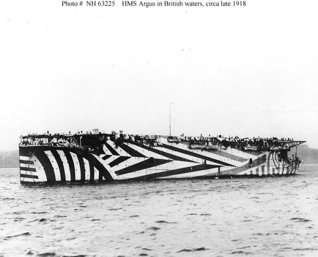 Aircraft carrier HMS Argus in 1918