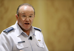 Air Force Vice Chief of Staff Gen. Phil Breedlove gives a presentation on Air Force future operating concepts in 2011. US Air Force Photo