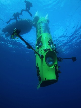 The DEEPSEA CHALLENGER submersible. National Geographic Photo