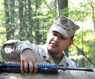 Undated photo of Sgt. Eusebio Lopez. USMC Photo