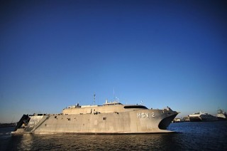 HSV-2 Swift  departs from Naval Station Mayport to begin Southern Partnership Station 2013. US Navy Photo