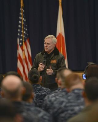 Secretary of the Navy Ray Mabus at Naval Air Facility Misawa, Japan on February, 21 2013. US Navy Photo