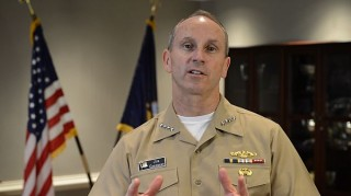 Adm. Jonathan Greenert gives an April, 1 2013 video message to the fleet. US Navy Photo