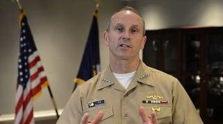 Adm. Jonathan Greenert gives an April, 1 2013 video message to the fleet. US Navy Photo