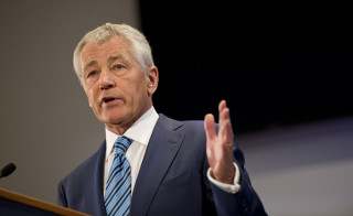 Secretary of Defense Chuck Hagel at National Defense University in Washington, D.C., on April 3, 2013.