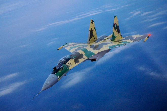 Russian Su-35 Fighter Makes 'Irresponsible' Intercept of Navy P-8A Over Mediterranean