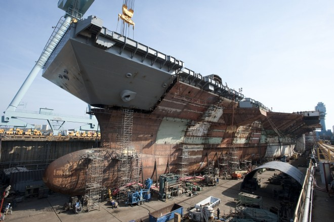 Navy: CVN-79 Contract Has Lowest Ceiling Price Ever; R&D Investment Will Take Out Further Cost