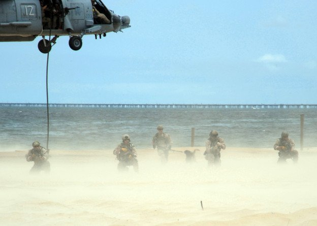 SEALs train at Joint Expeditionary Base Little Creek-Fort Story in 2012. US Navy Photo