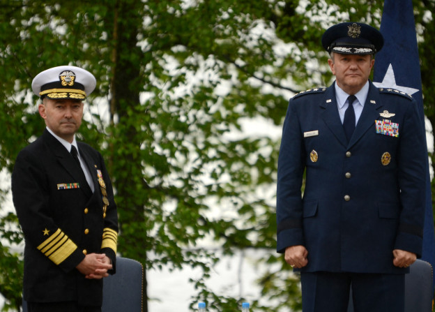 USAF Gen Philip Breedlove assumed command of EUCOM from retiring Adm James Stavridis on May, 10.