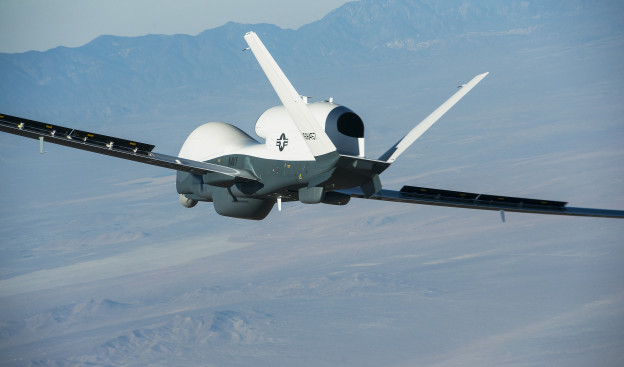 Northrop Grumman-built Triton unmanned aircraft system completed its first flight May 22 from the company's manufacturing facility in Palmdale, Calif. Northrop Grumman Photo
