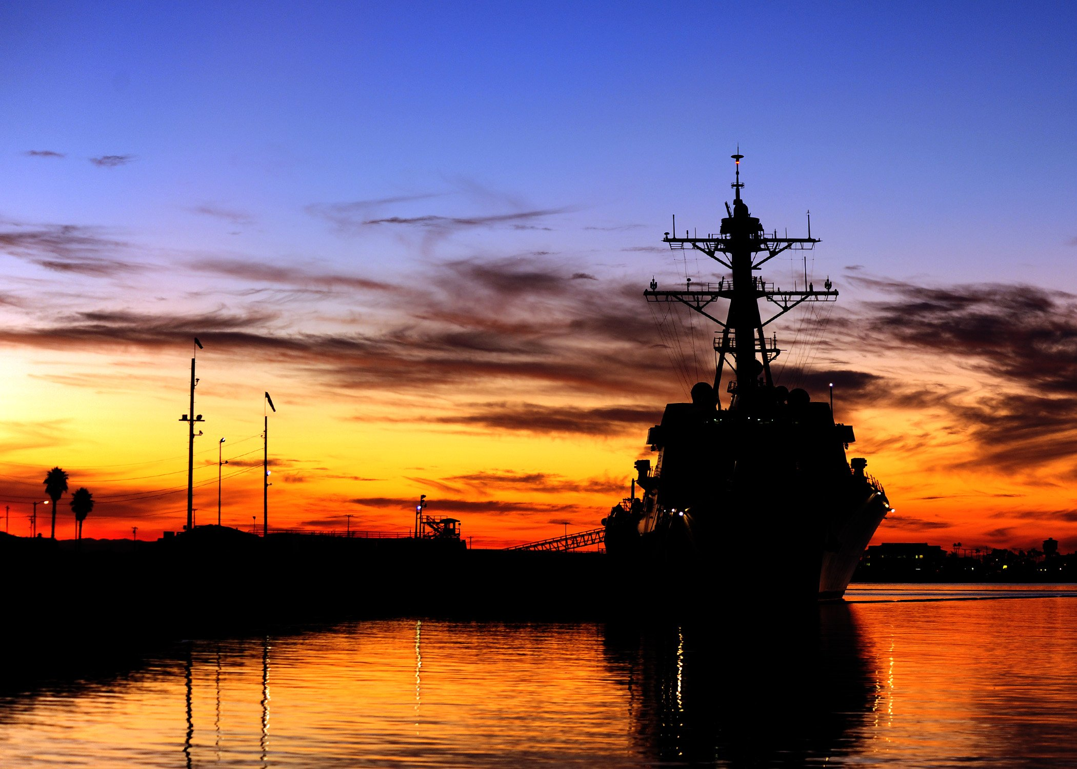 USS Spruance (DDG-111) is pierside at Naval Weapons Station Seal Beach, Calif., Jan, 2012. US Navy Photo