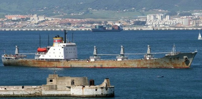 North Korean Ship Seized With Missile Parts
