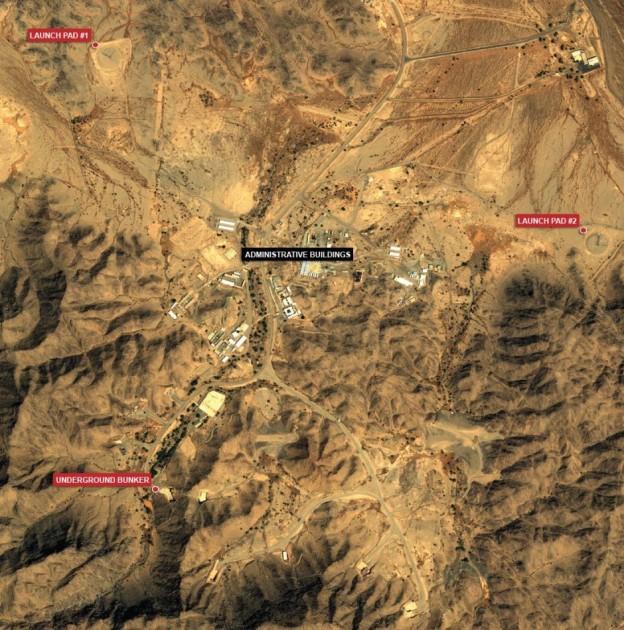 An alleged ballistic missile site outside of Riyadh, Saudi Arabia. Jane's Photo