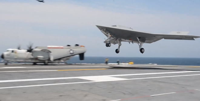 New Age in Carrier Aviation Takes Off With X-47B Landing