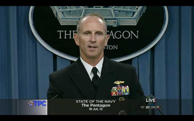 CNO Adm. Jonathan Greenert's State of the Navy Friday Press Briefing
