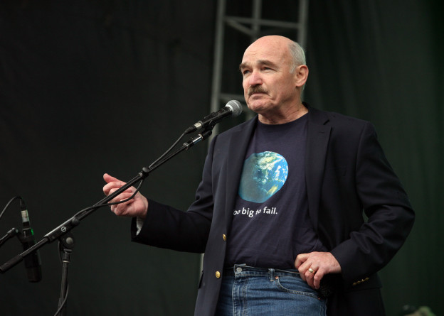 Retired Vice Adm. Dennis V. McGinn speaks at the Earth Day Rally in Washington, DC, April 22, 2012. Earth Day Network Photo