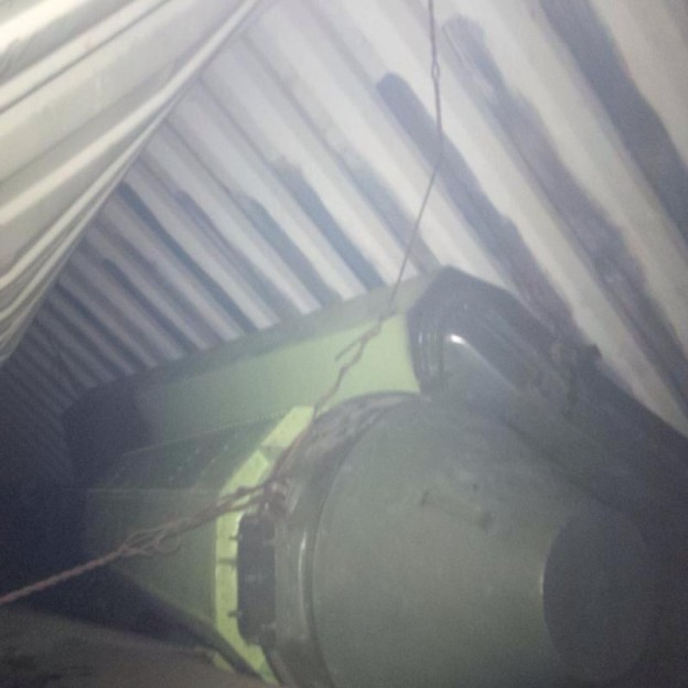 A picture of the alleged missile parts found onboard a North Korean merchant ship by Panamanian officials tweeted by President Ricardo Martinelli.