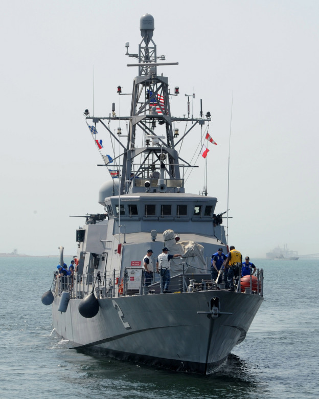 USS Tempest (PC-2) is moved pier-side on July 3, 2013 in Bahrain. US Navy Photo