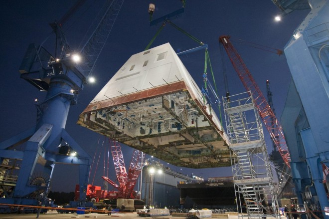 Navy's Steel Deckhouse Decision for Final Zumwalt is a Blow to HII