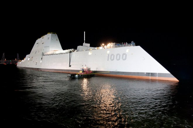 Navy Considering Railgun for Third Zumwalt Destroyer