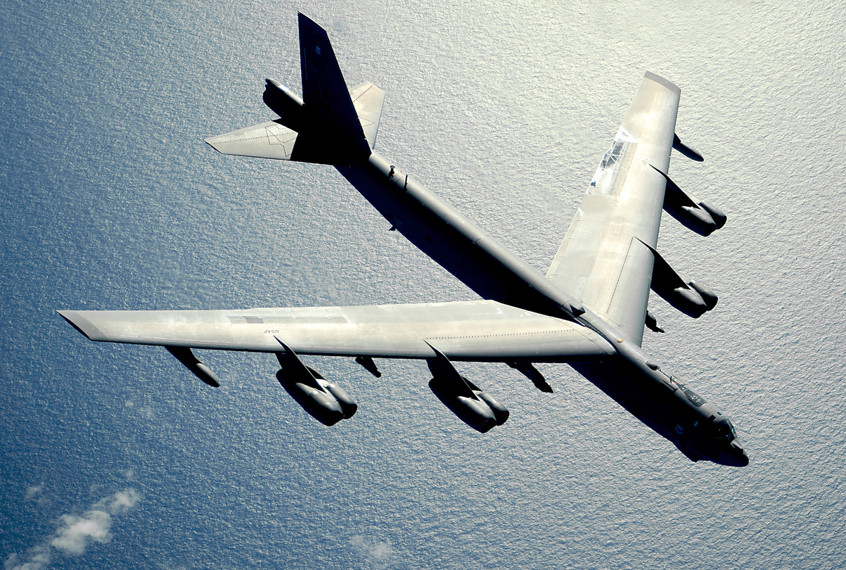 A U.S. B-52 Stratofortress strategic bomber. US Air Force Photo