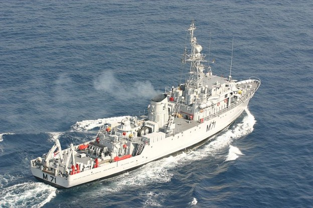 Pondicherry-class minesweeper INS Kozhikode (M71). A ship in the same class, INS Konkan, suffered a fire on Wednesday. Indian Navy photo