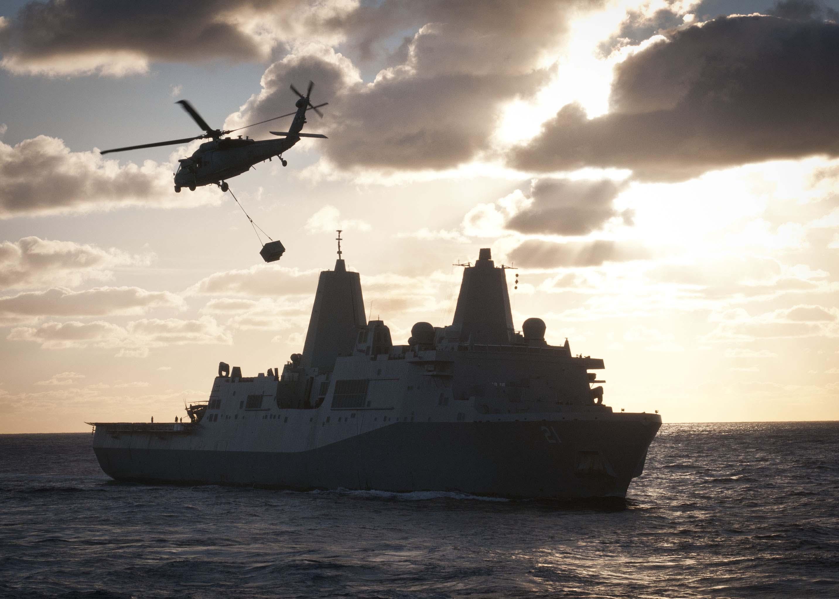 USS New York (LPD-21) in 2012. US Navy Photo