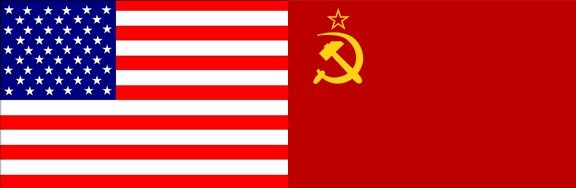 USA and USSR Flag