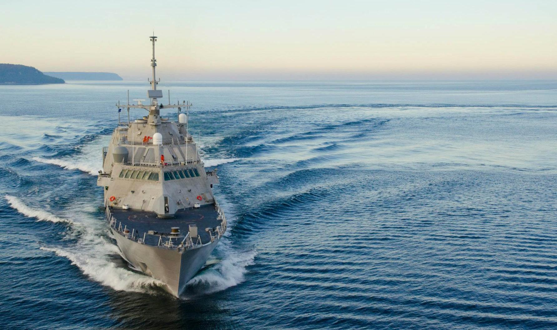 Fort Worth (LCS-3) conducts builders trials in 2011. Lockheed Martin Photo