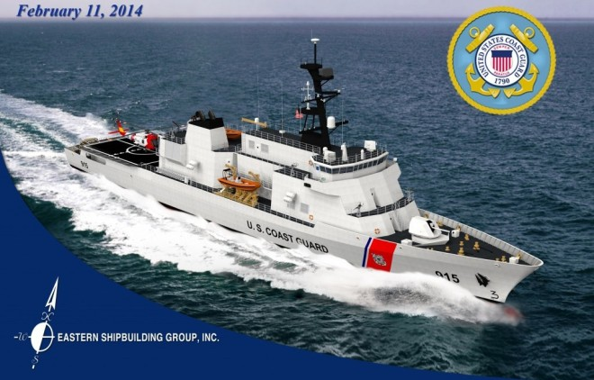Eastern Shipbuilding's concept for the OPC. Eastern Shipbuilding Photo