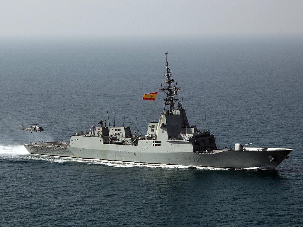 Spanish Navy Ship Álvaro de Bazán (F-101) in 2005.