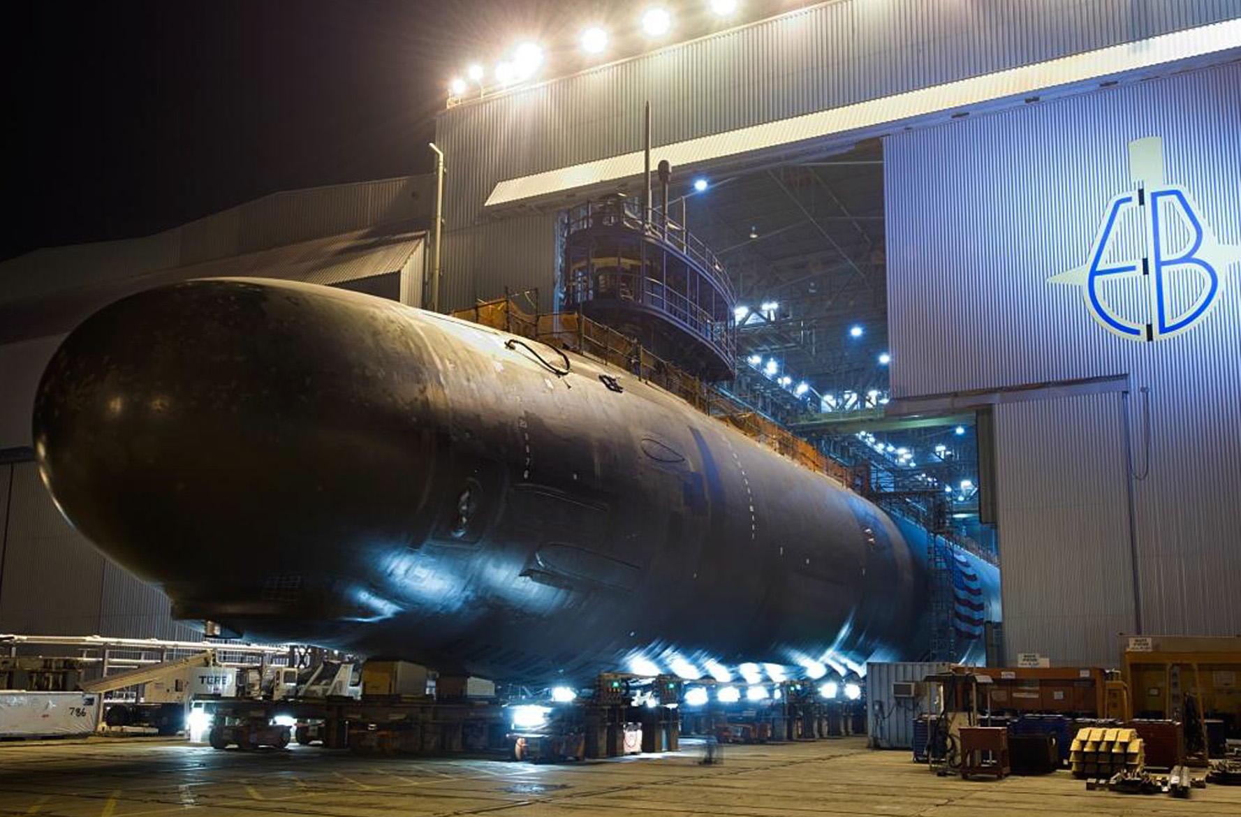Virginia-class attack submarine Pre-Commissioning Unit (PCU) North Dakota (SSN-784) at General Dynamics Electric Boat in Groton, Conn. on Sept. 11, 2013. US Navy Photo