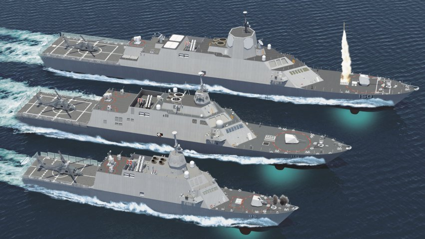 A Lockheed Martin concept for variations of the Freedom-class LCS design from corvette to Frigate sized hulls. Lockheed Martin Photo