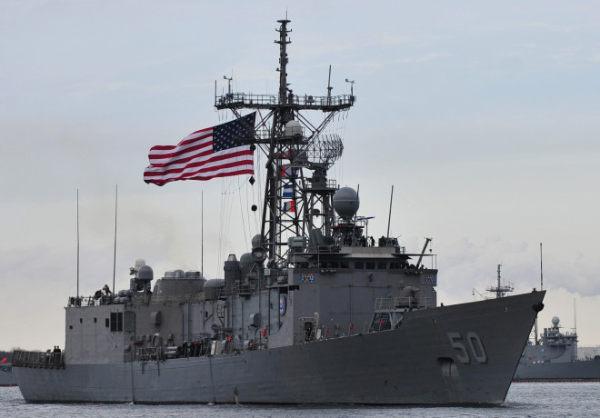 USS Taylor (FFG-50) departs Naval Station Mayport in 2014. US Navy Photo