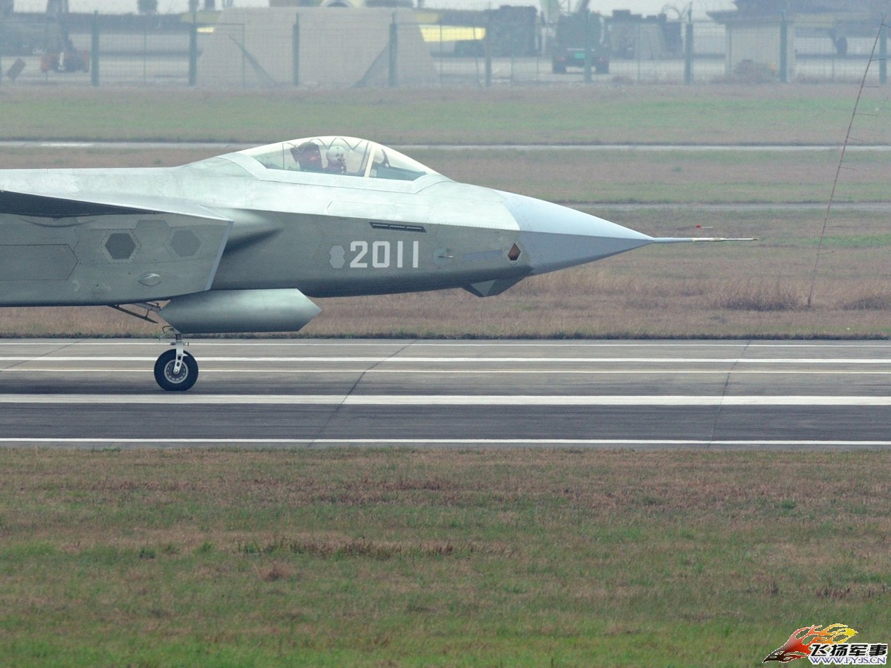 An image of China's newest stealth fighter prototype.