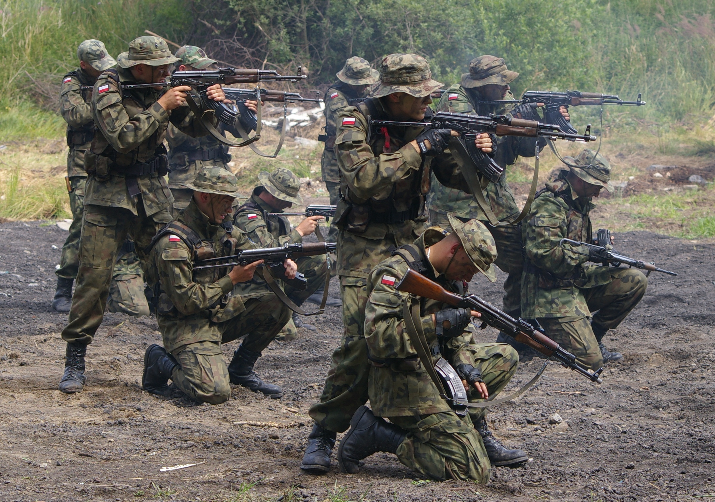 A photo of members of the Polish Army in 2008.
