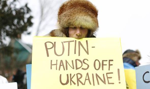 An anti-Putin protester. Reuters Photo