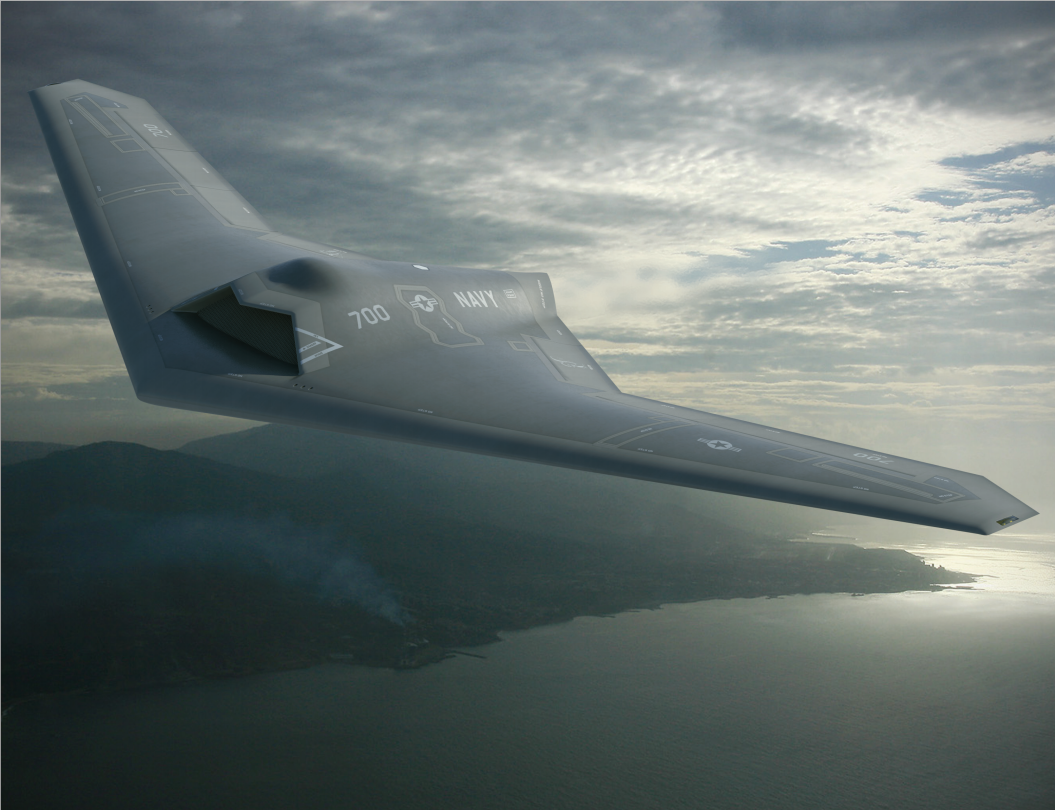 An artist's concept of the Navy's Unmanned Carrier Launched Airborne Surveillance and Strike (UCLASS) from Lockheed Martin. Lockheed Martin Image