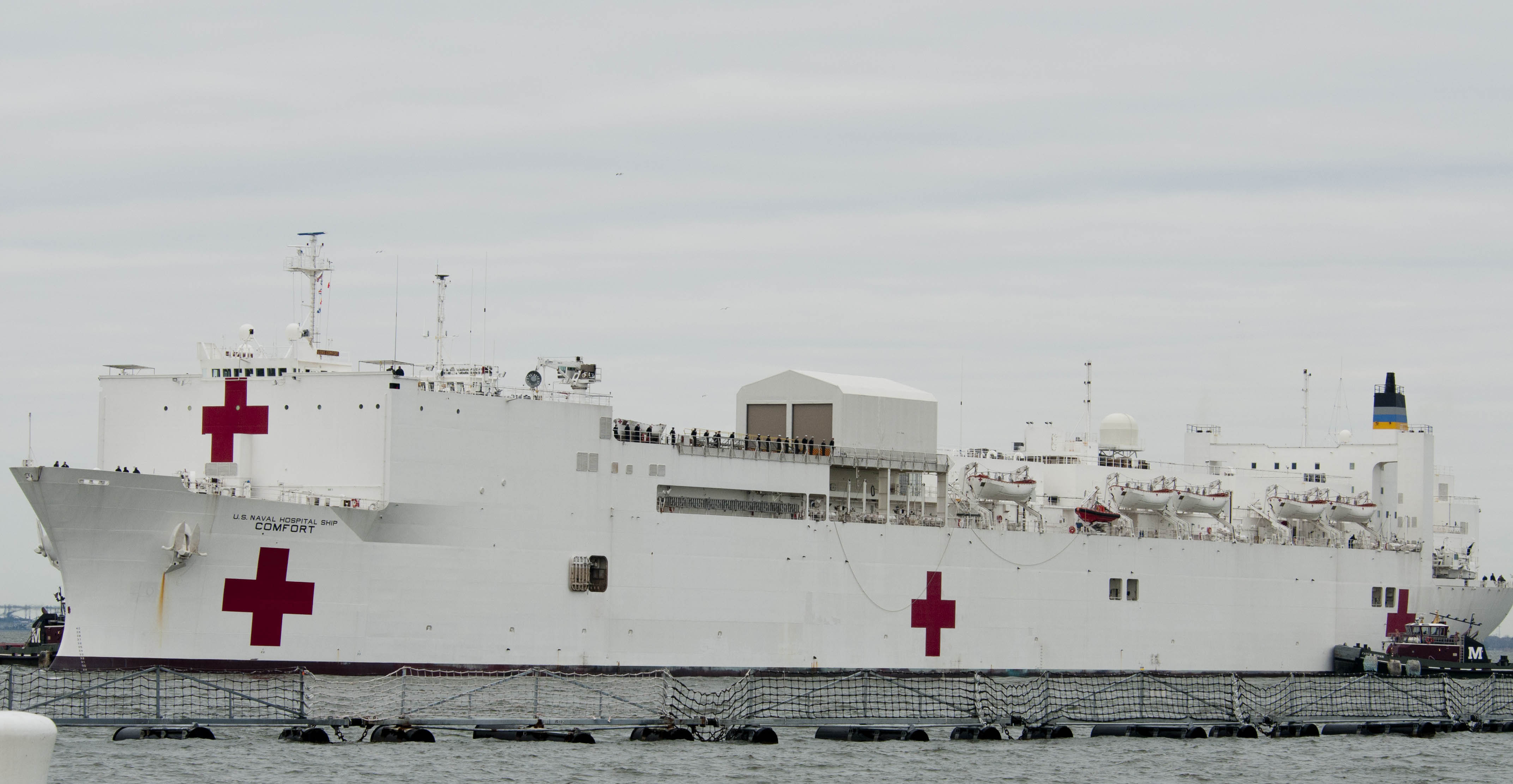 USNS Comfort (T-AH-20), one of the Navy's two hospital ships that will be counted in the service's 'battle force' as part of a new plan that reclassifies existing ships by assets in high demand by combatant commanders. US Navy Photo