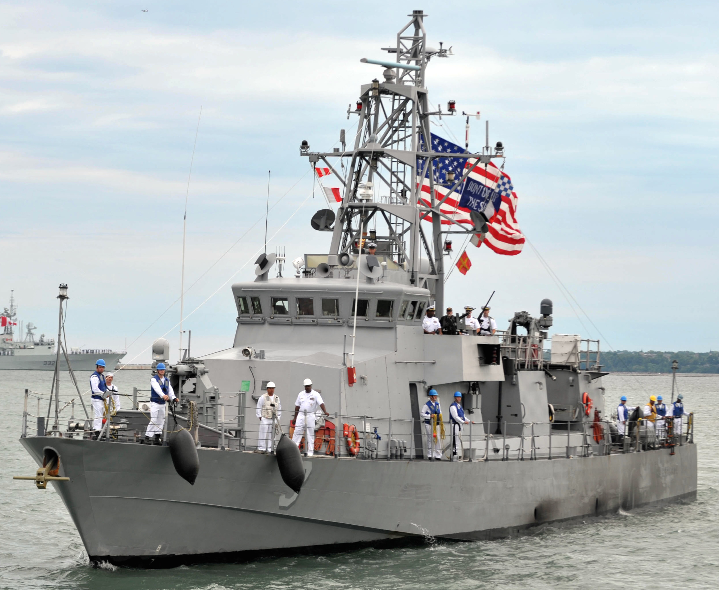 Cyclone-class coastal patrol ship USS Hurricane (PC-3) in 2012. US Navy Photo