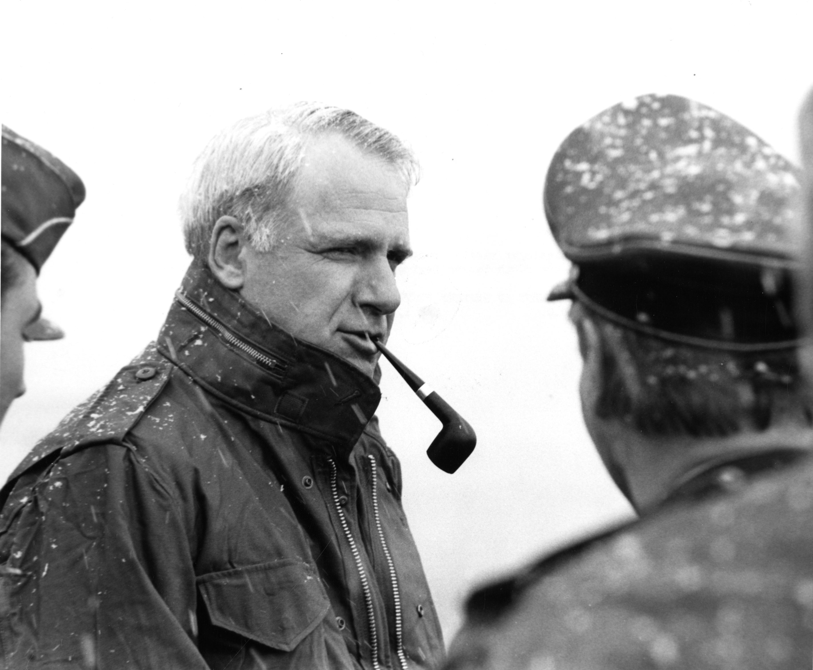 Then Secretary James Schlesinger visits troops of the FRG at Ulm, Germany on May 1, 1974. US Naval Institute Photo