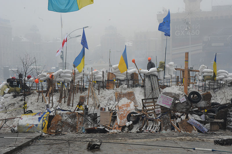 Protesters in Maidan Square. Kiev, Ukraine. Dec. 12, 2013.